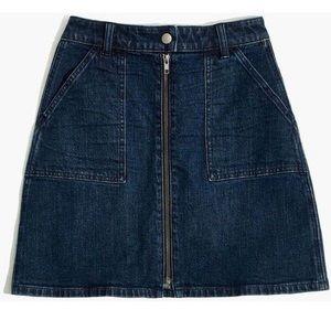 Madewell zip skirt